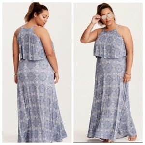 Torrid Medallion Maxi Dress 1 1X New Without Tags